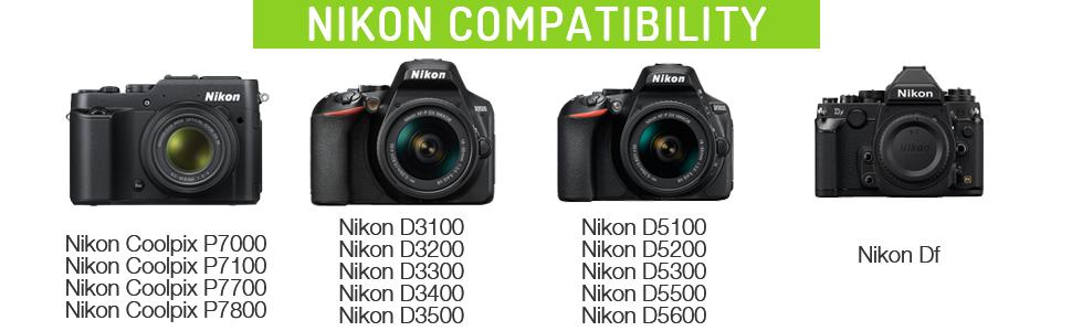Batería con data-chip para Nikon d3300