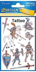 Tattoo kinderen ridders
