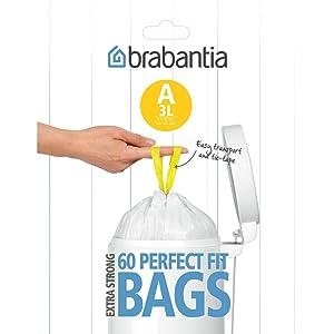 bin bags 3L; bin bags bathroom; toilet bin liners; bin bags; bin liners 3L; size A bin bags; waste