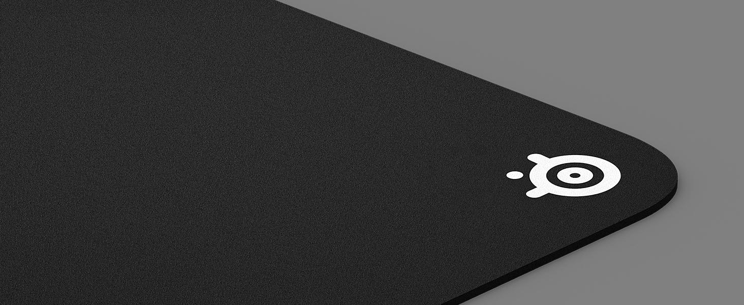 -Corner logo of SteelSeries QcK 3XL mousepad