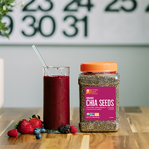 Organic Chia Seeds BetterBody Foods Smoothie