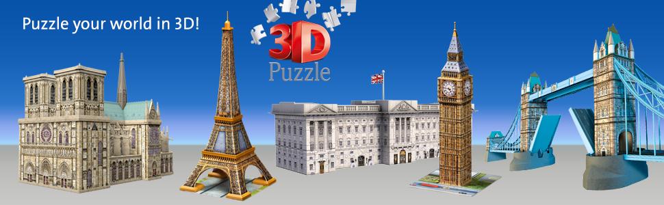 3d puzzles buildings