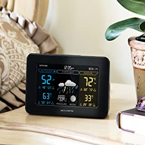 weather station, outdoor temperature and humidity, weather forecaster, indoor humidity, acurite