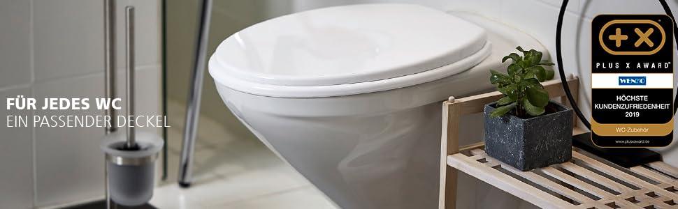 Soms is het zeer moeilijk om de juiste wc-deksel of toiletbril te vinden. Niet zo bij WENKO