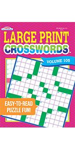 Large Print Crosswords Puzzle Book