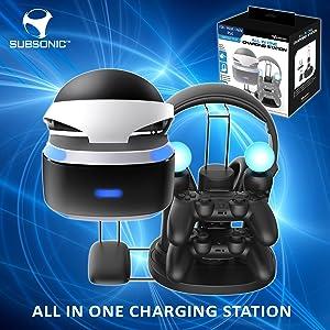 Subsonic - Estación de Carga y Almacenamiento (PC, VR, PS4 ...