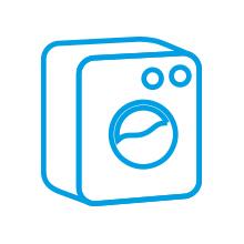 Tvättmaskin – blå