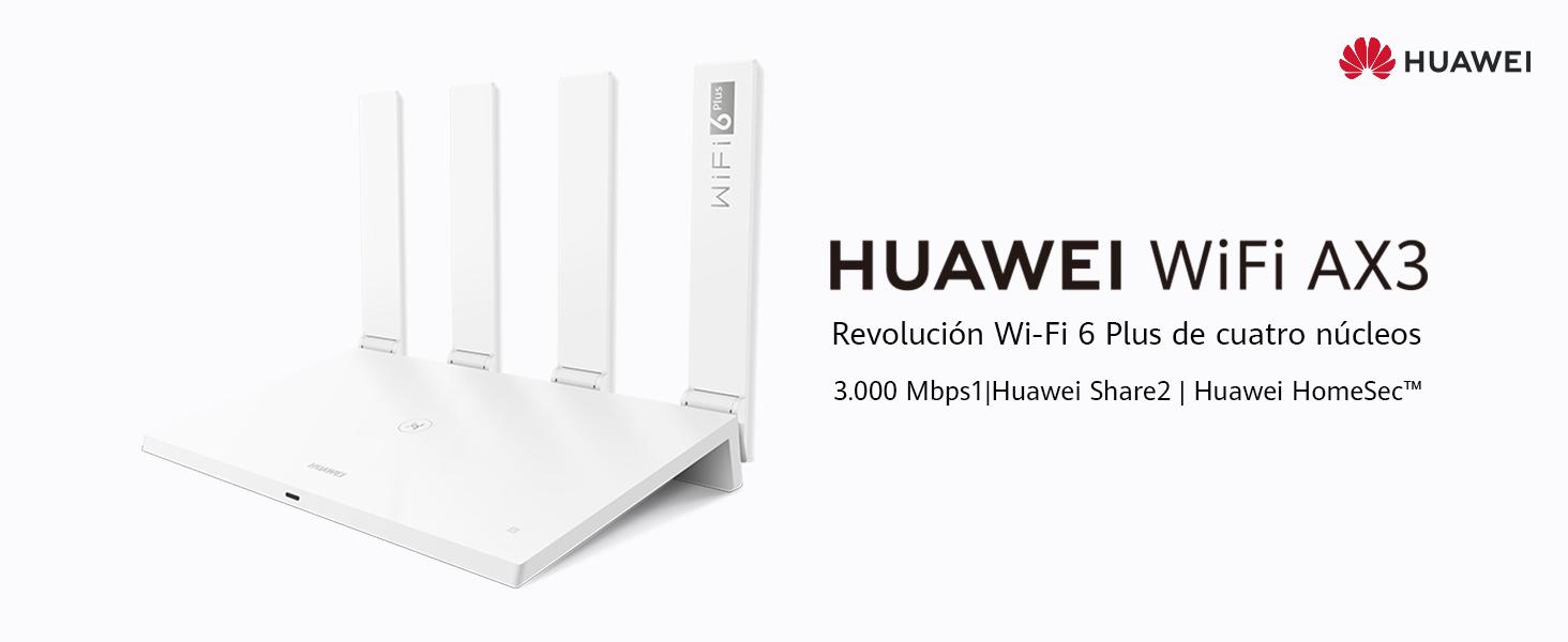 HUAWEI WiFi AX3 - Router Quad-coreWiFi 6 Plus Revolution 3000 Mbps