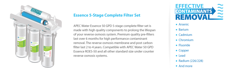 Amazon.com: APEC Water Systems FILTER-MAX-ES50 50 GPD High Capacity on