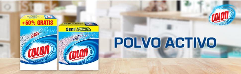 Leer más. colon detergente lavadoras polvo activo ropa limpia manchas colada quitamanchas