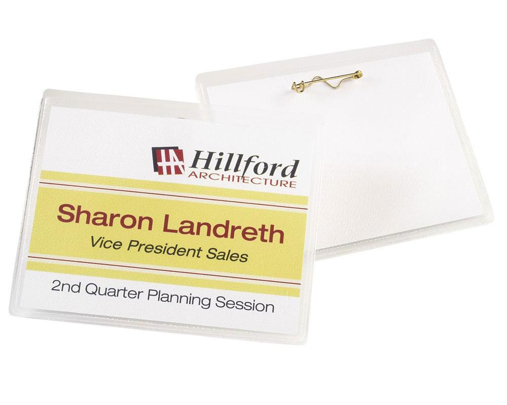 amazon com   avery 5395 adhesive name badge labels  rectangular  white  box of 400   white