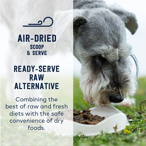 air dried dog food raw alternative fresh food diet pure protein high meat nutrients whole prey