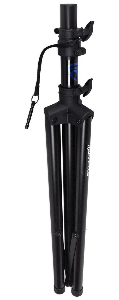 pair rockville rves1 adjustable tripod dj pa speaker stands carry bag universal. Black Bedroom Furniture Sets. Home Design Ideas