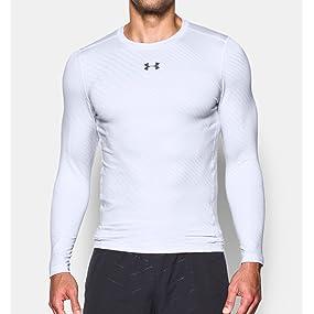 daea6b94c40 UA ColdGear Jacquard - Camiseta de compresión de cuello redondo para hombre