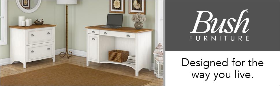 bush furniture,stanford,antique white,white,traditional,bush,bush industries