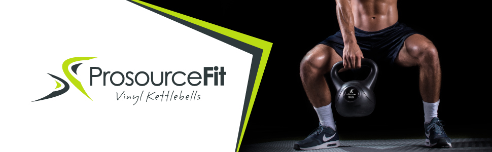 Prosource Fit Vinyl Kettlebell Weights for Full Body Workouts