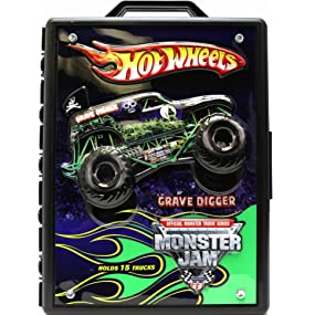 Amazon Com Hot Wheels Monster Jam Truck Storage With Carrying