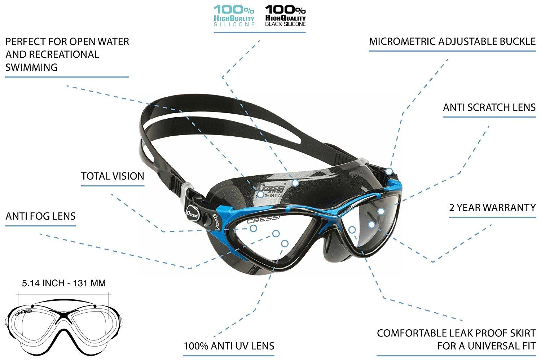 Cressi Planet Swim Goggles - Premium Anti Niebla Gafas de