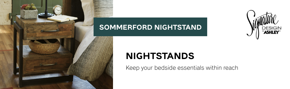 sommerford night stand stands nightstand nightstands signature design by ashley