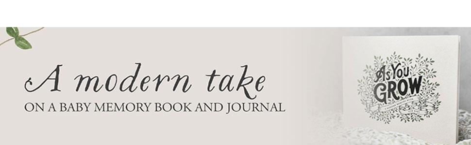 modern take as you grow baby memory book journal