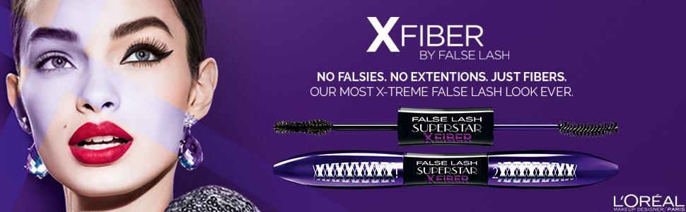 b478ea4141f L'Oreal False Lash Superstar X Fibre Mascara, Black: Amazon.co.uk ...