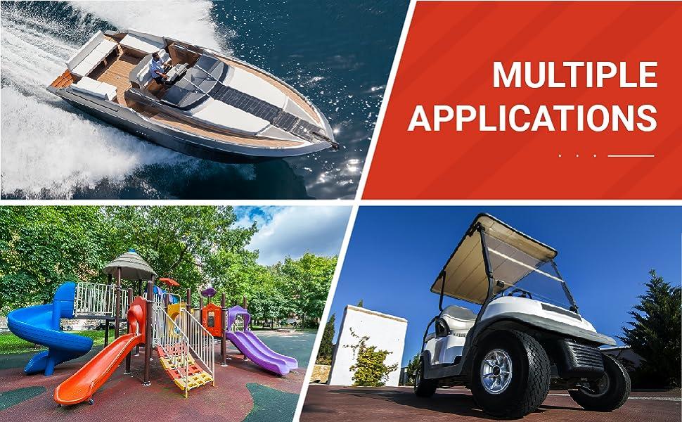 edge trims multiple applications boat marine golf cart car truck playground