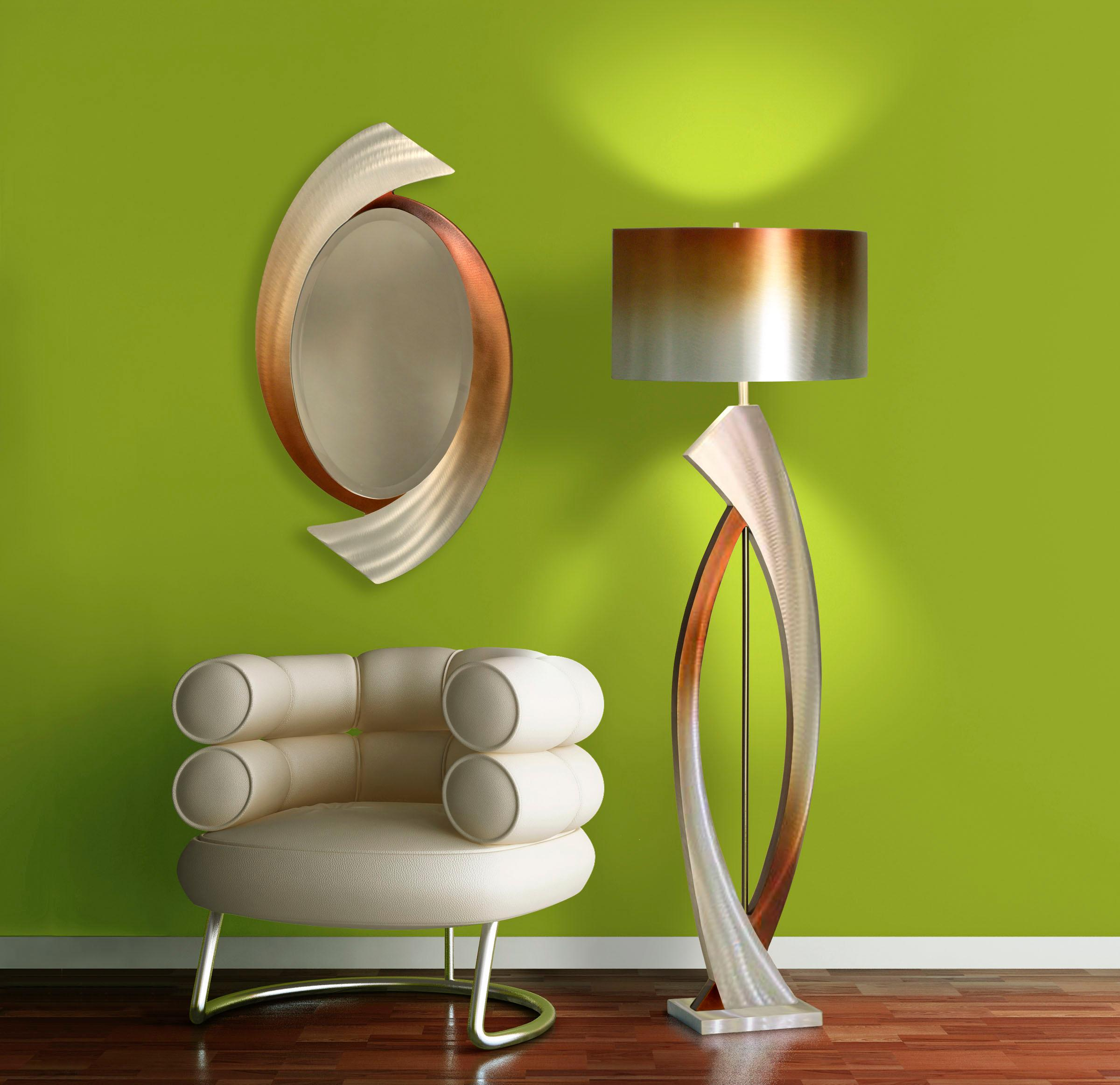 Nova Lighting Jfl4810 Swerve Floor Lamp Rust Bronze