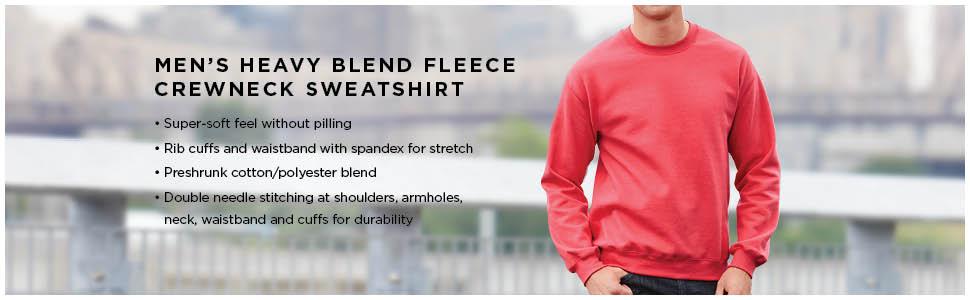 Gildan Men's Fleece Crewneck Sweatshirt at Amazon Men's