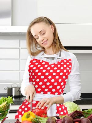 Red Retro Kitchen Cooking Apron