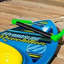 Hydrohook, hydroslide, kneeboard, handle,