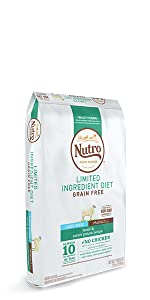 Nutro Limited Ingredient Dry Dog Food, Selective, GMO Free, Clean, Label