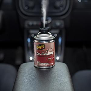 Meguiar's G19702 Whole Car Air Re-Fresher Odor Eliminator – Spiced Wood  Scent, 2 5 oz
