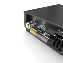 KabelDirekt 3m Cable Coaxial Antena en Ángulo 90°, (Clase A, Soporta DVB-T, DVB-S, DVB-C, DVB-S2 y HDTV, para TV y Radio), Pro Series: Amazon.es: Electrónica