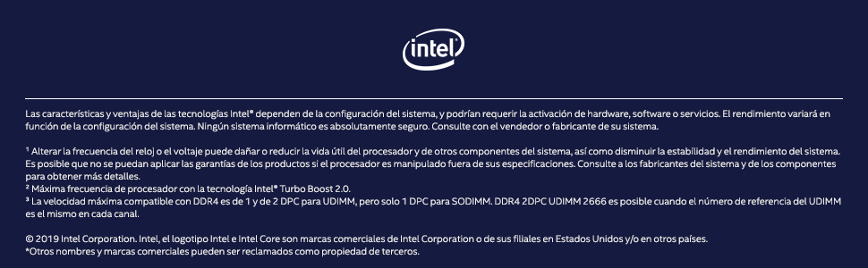 Procesador Intel Core i7 9700K