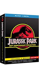 Jurassic Park Collection, Jurassic Park, Jurassic World, blu-ray, box set, collection, anniversary