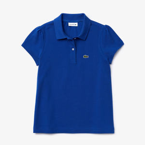 girl's polo shirt; Lacoste kids polo shirt; girls polo shirt