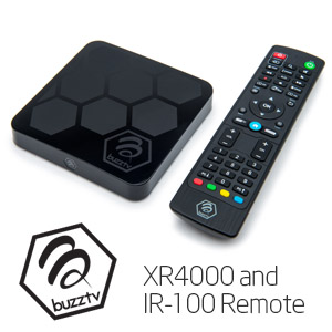 XR 4000 Buzz-tv android tv box steaming media player IPTV remote control android 9.0 OS 4gb 32gb