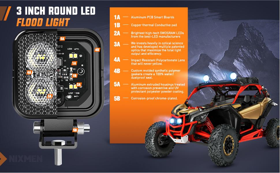 led flood light, led driving light, led work light, bumper light, tractor lights, , ditch lights