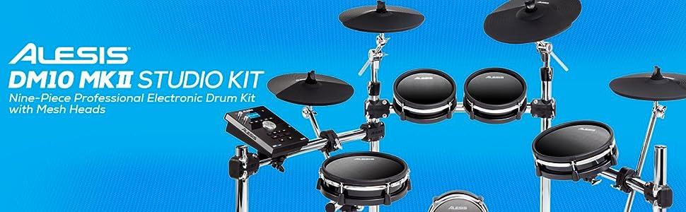 amazon com alesis dm10 mkii studio kit nine piece electronic drum