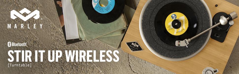 House of Marley EM-JT002-SB Stir It Up Tocadiscos Inalámbrica ...
