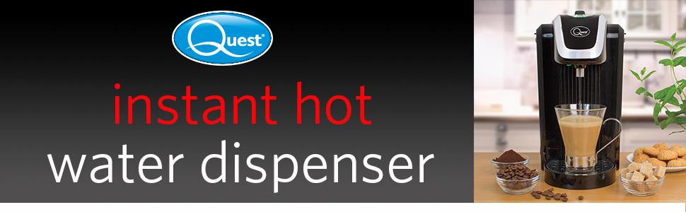 Quest Instant Hot Water Dispenser in Black