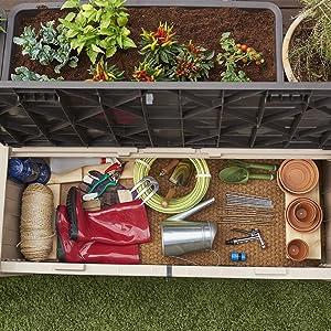 Storage outdoors garden box bench gardening equipment tools pets hobbies leisure games accessories