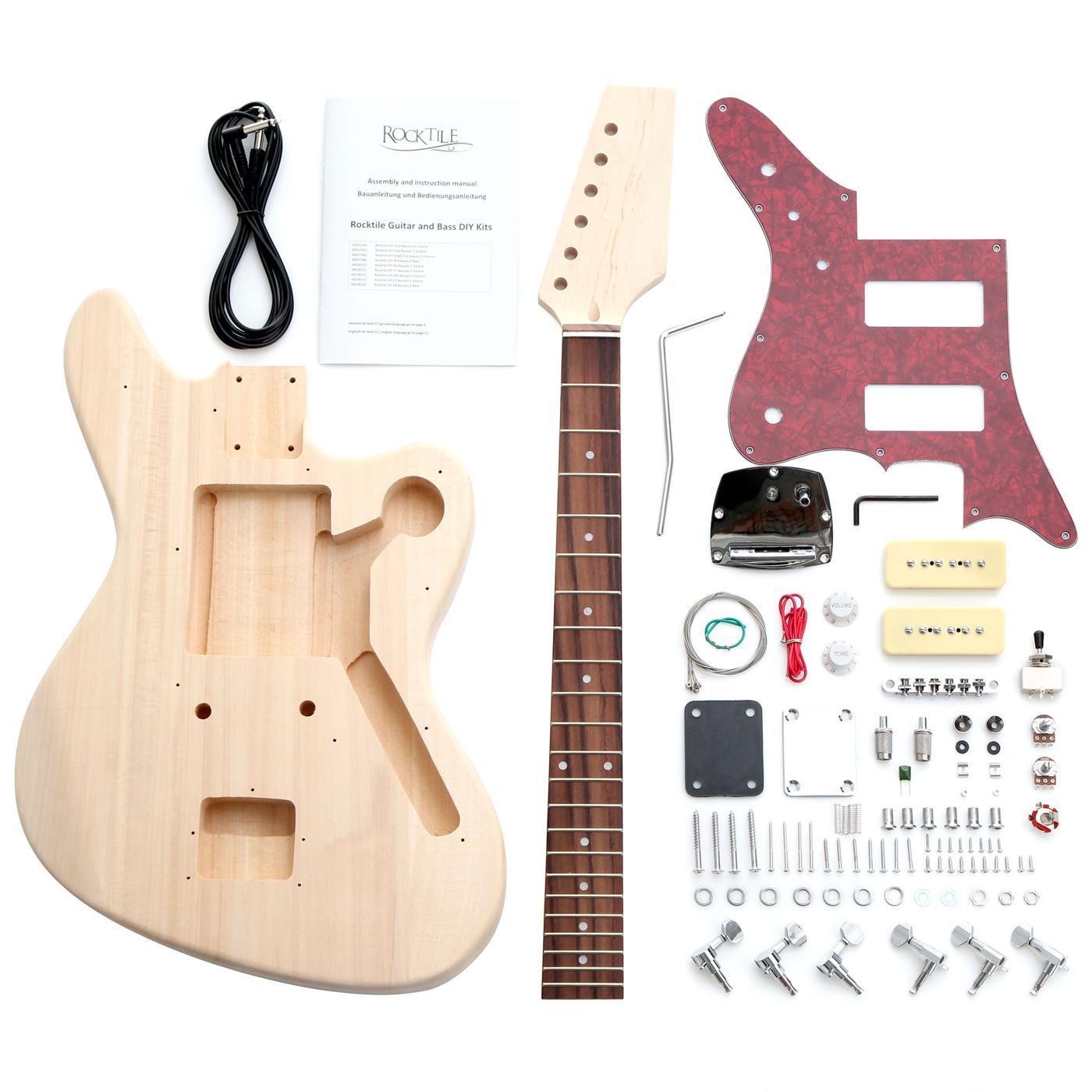 Rocktile DIY JAG Style Bausatz E Gitarre Do it yourself