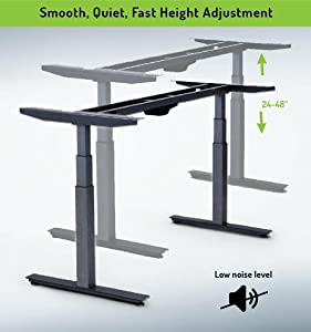 Rise Up   Electric Adjustable Height Standing Desk Frame