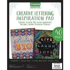 Crayola Signature Creative Lettering Inspiration Pad