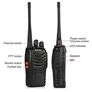 Türsprechstelle Audio Intercom Mini Walkie Talkie Uhf 400-470 Mhz 2 W 1500 Mah Digitale Zwei Weg Radio Hf Transceiver Radio