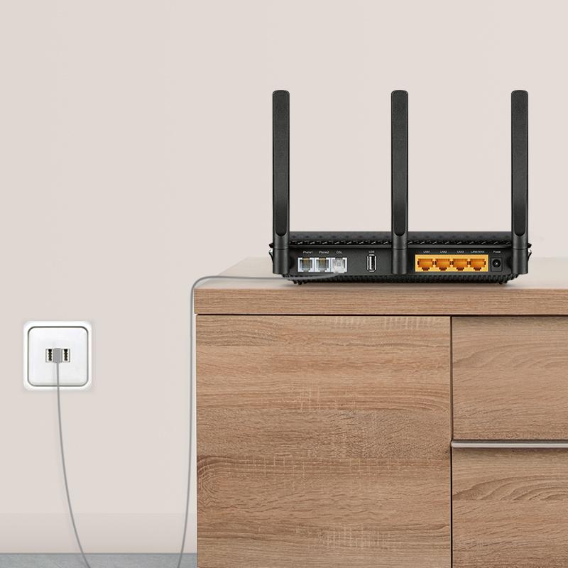 tp link archer vr600v ac1600 wlan telefonie modemrouter computer zubeh r. Black Bedroom Furniture Sets. Home Design Ideas