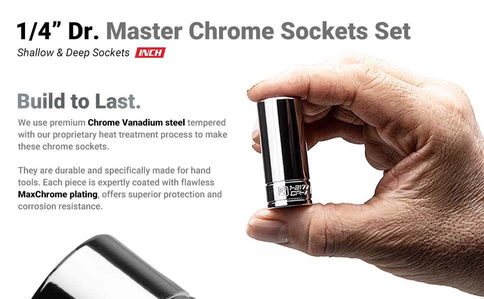 Chrome Socket Set
