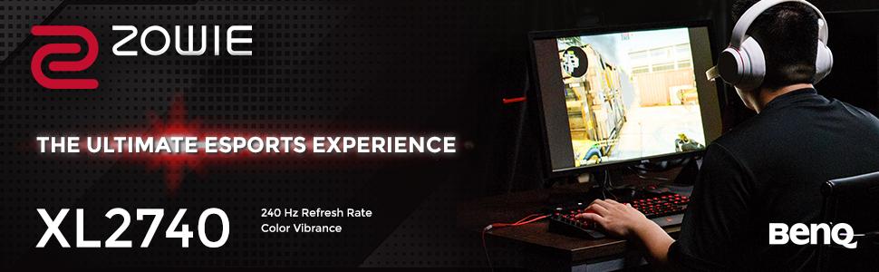 BenQ ZOWIE XL2740 240 Hz Esports Gaming Monitor