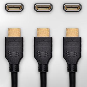3 HDMI Connectors
